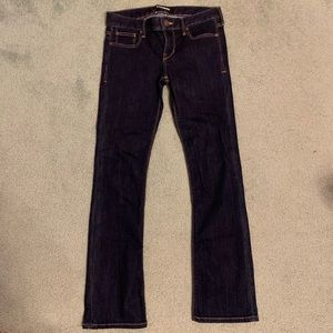 Express Mid rise Barely bootcut Jeans